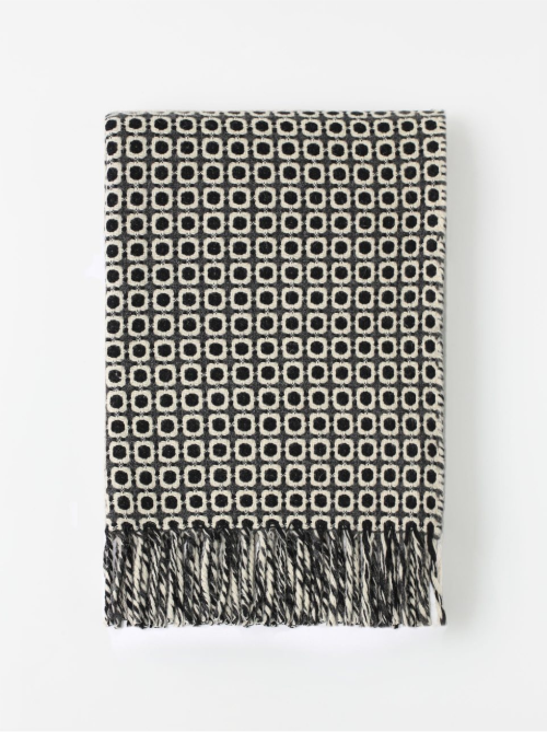 Vintage Throw Blanket, Dark Grey