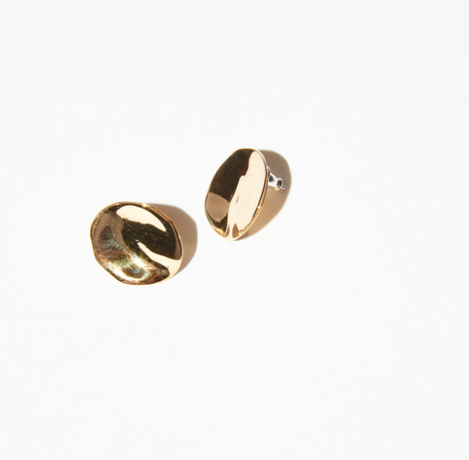 DENT EARRINGS - BRASS