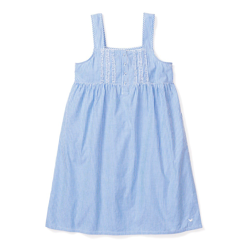 French Blue Seersucker Charlotte Nightgown