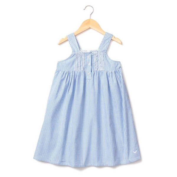 Blue Seersucker Charlotte Nightgown