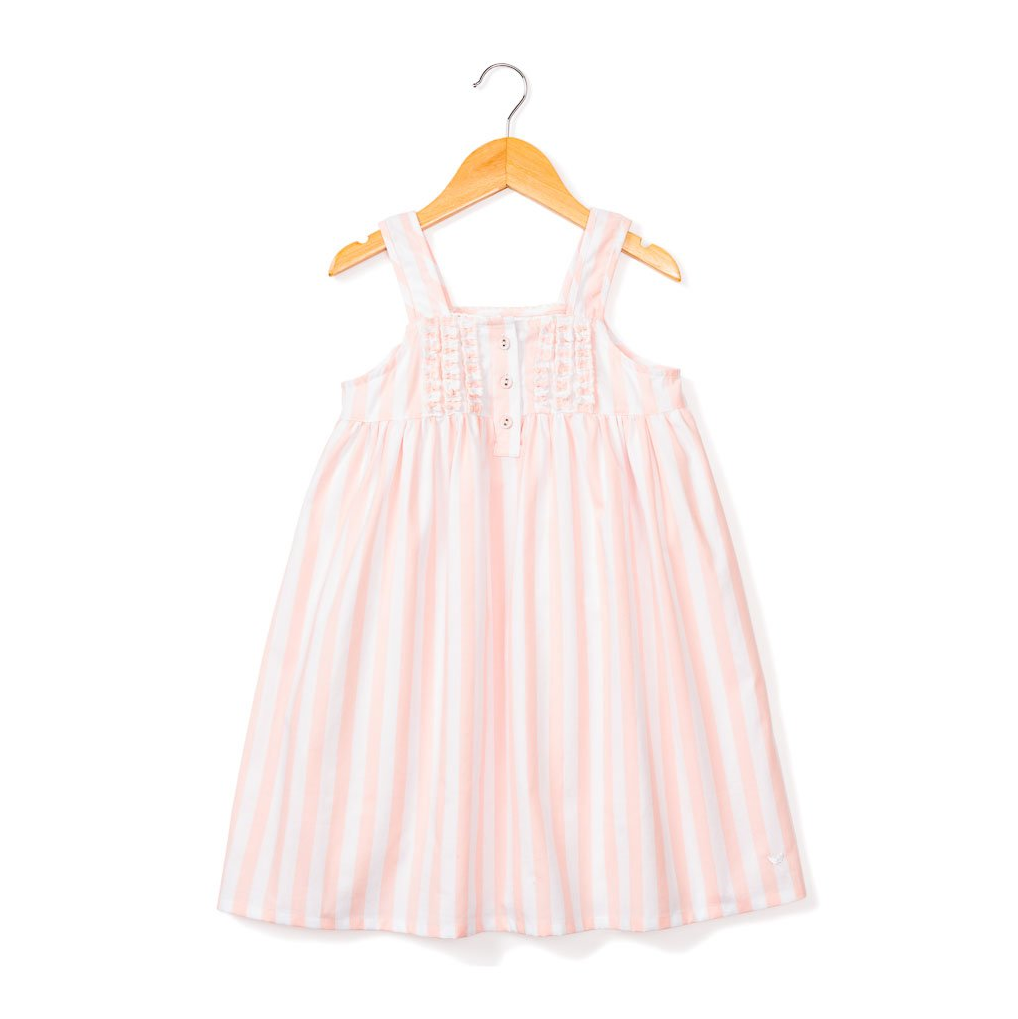 Coral Modern Striped Charlotte Nightgown