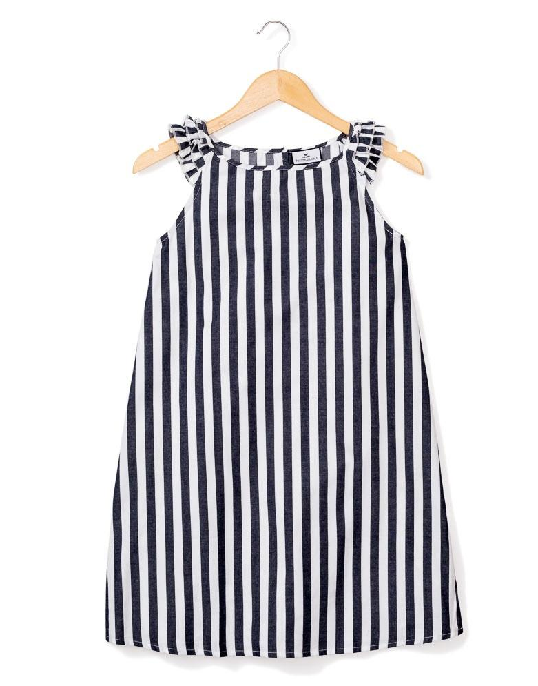 Navy Modern Striped Amelie Nightgown