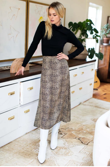 Midi Skirt, Little Cheetah
