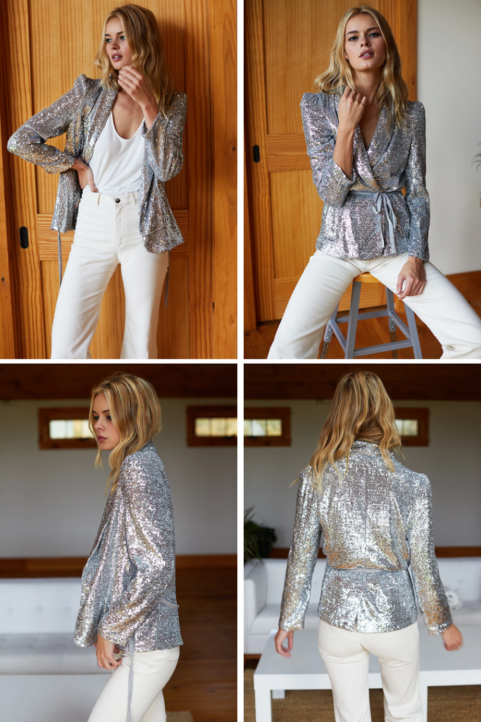 PARIS Jacket, Silver Sequin
