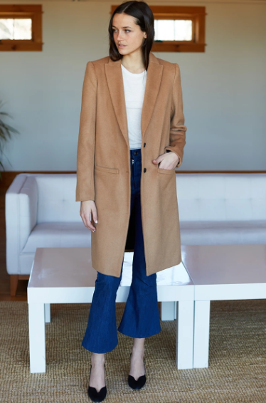 Tailored Coat, Camel