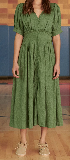 The Alder Dress, Bottle Green