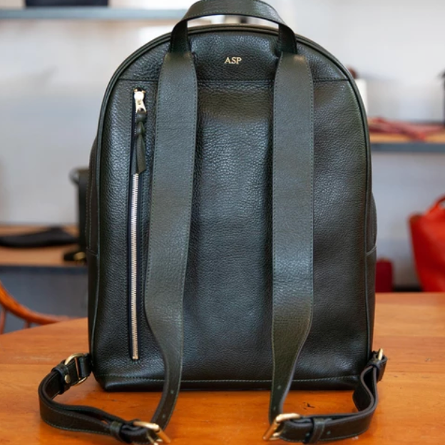 Leather Backpack, Green