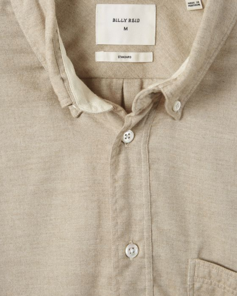 OFFSET POCKET SHIRT - TAN