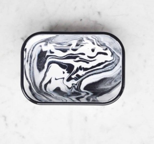 Small Deep Rectangular Dish - Swirl