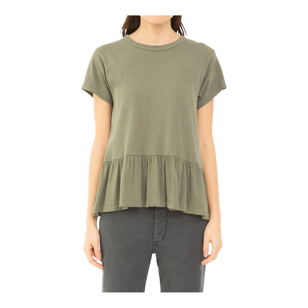 The Ruffle Tee, Camo Green