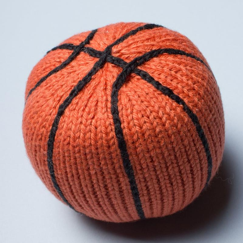 Basketball Organic Baby Rattle Toy