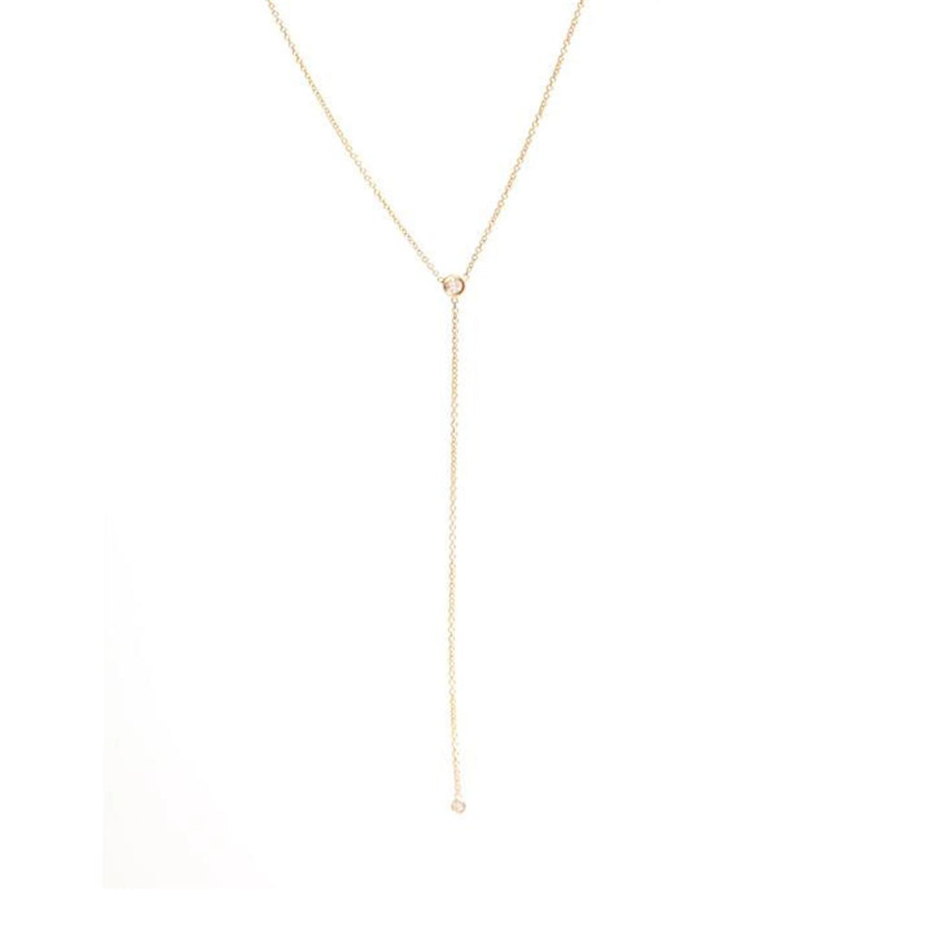 Diamond Lariat Necklace