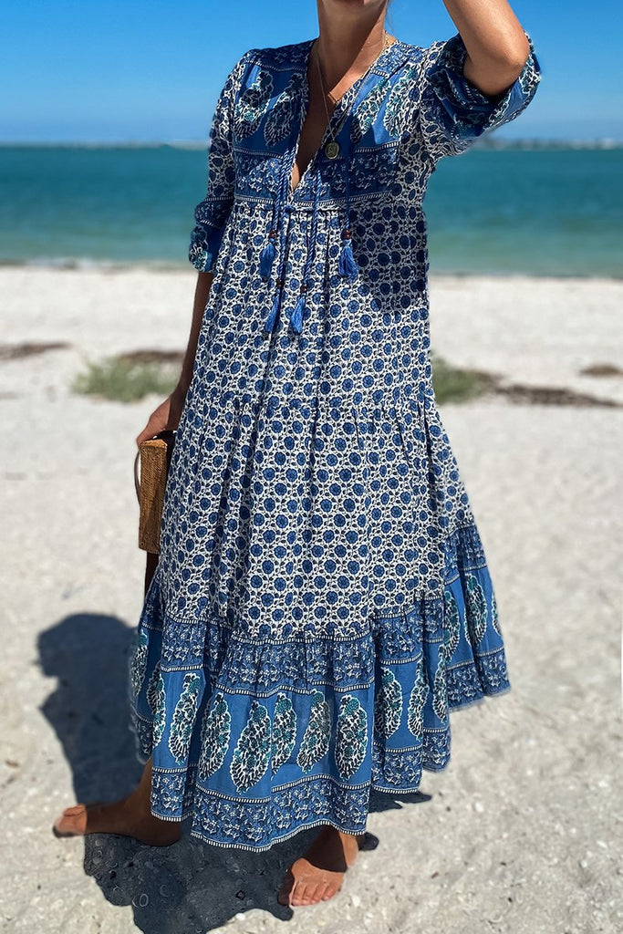 India Collection Heirloom Dress, Indigo
