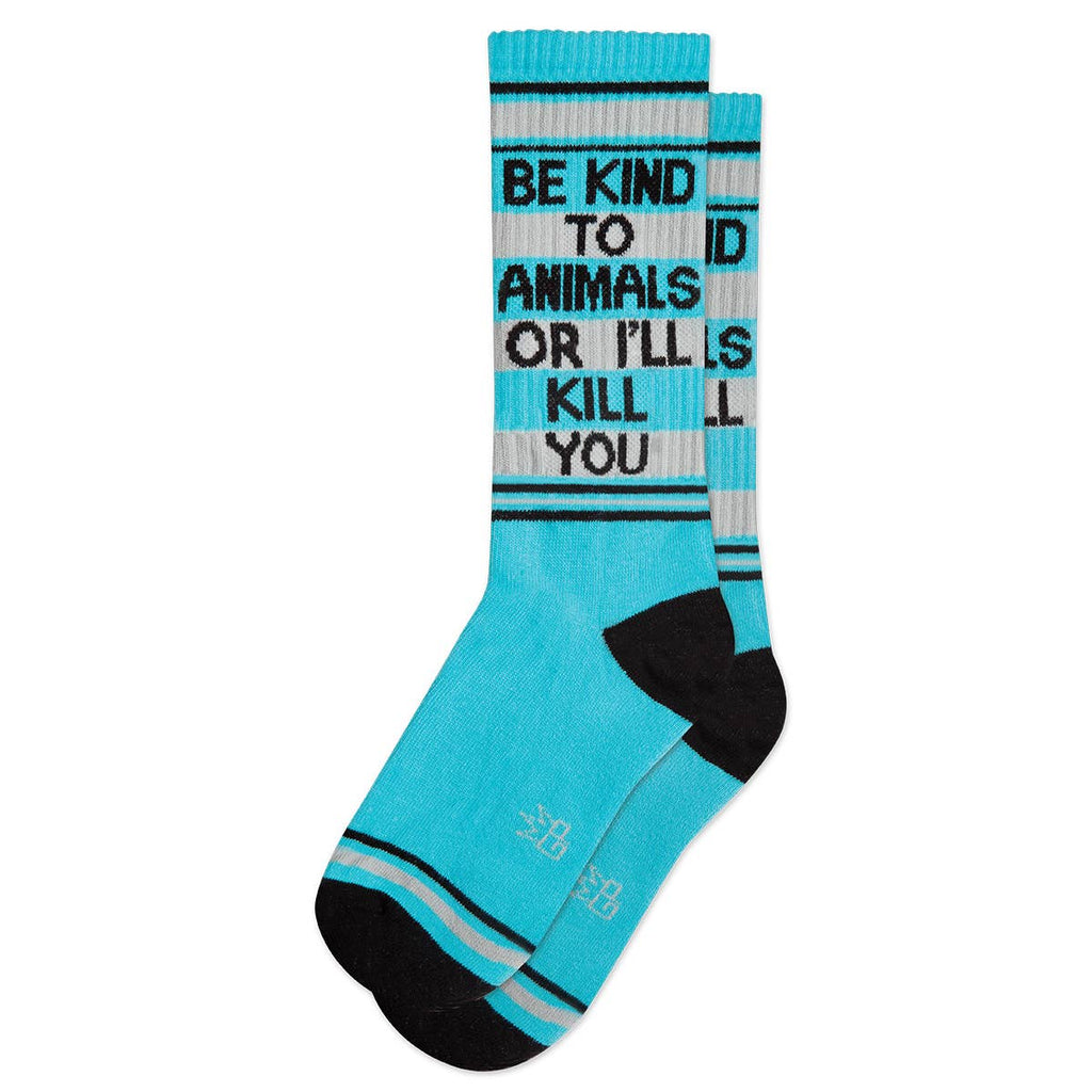 Preorder Be Kind to Animals or I'll Kill You Ribbed Gym Socks
