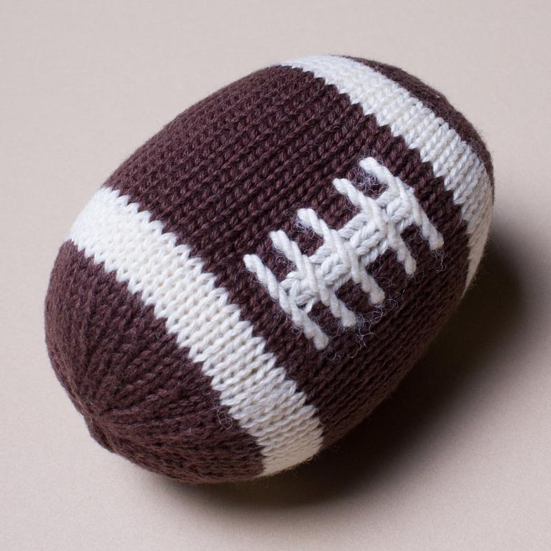 Football Organic Baby Rattle Toy