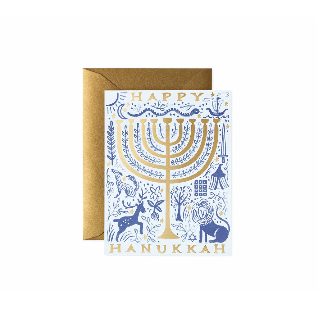 12 Tribes Hanukkah Card