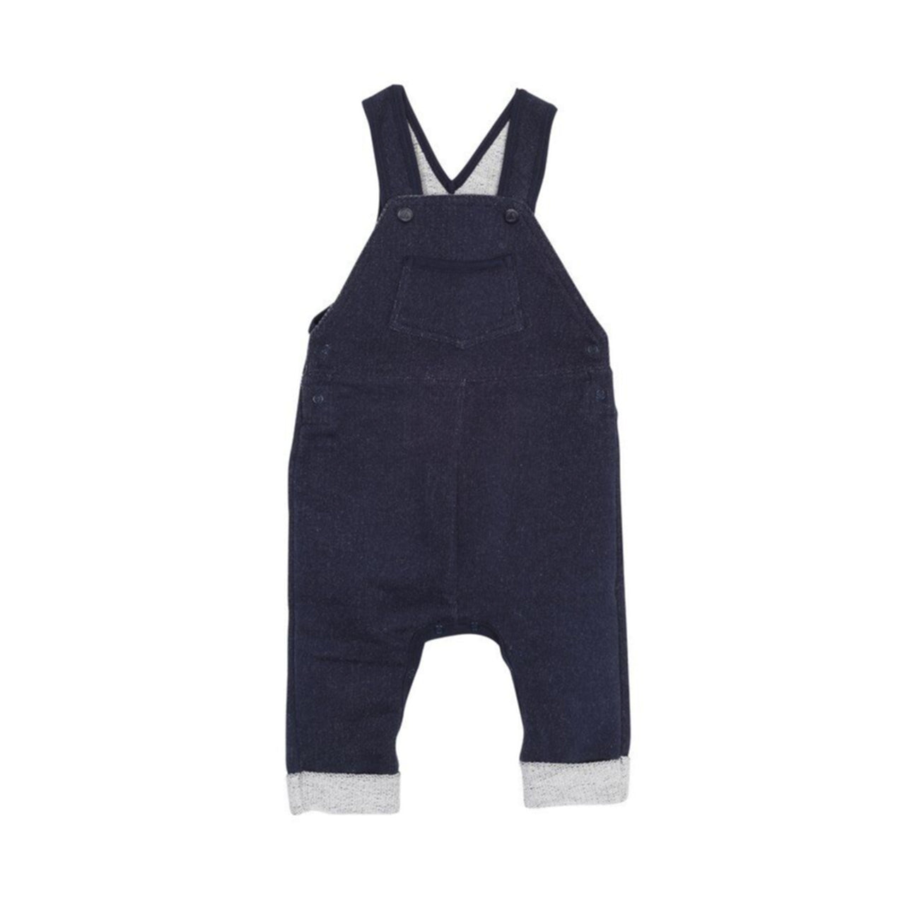 Baby Overalls with Front Pocket, Navy