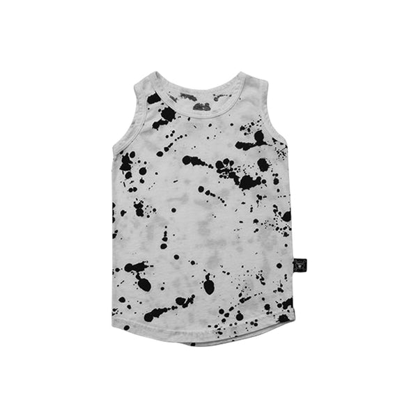 White Splash Tank Top