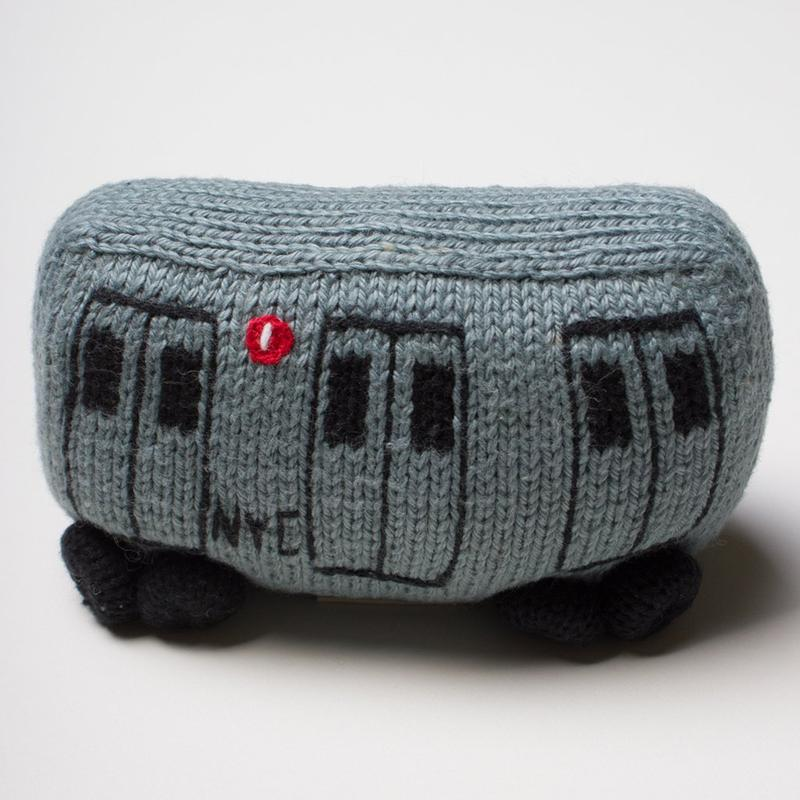 NYC TRAIN  Organic Baby Rattle Toy