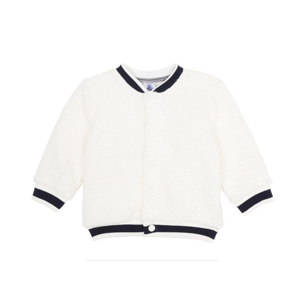 Baby Sherpa Button-Up Jacket, Ivory