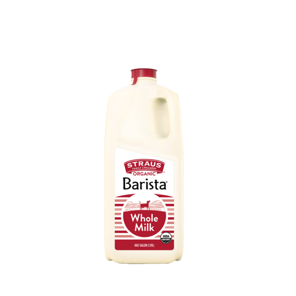 Strauss Barista whole milk, half gallon