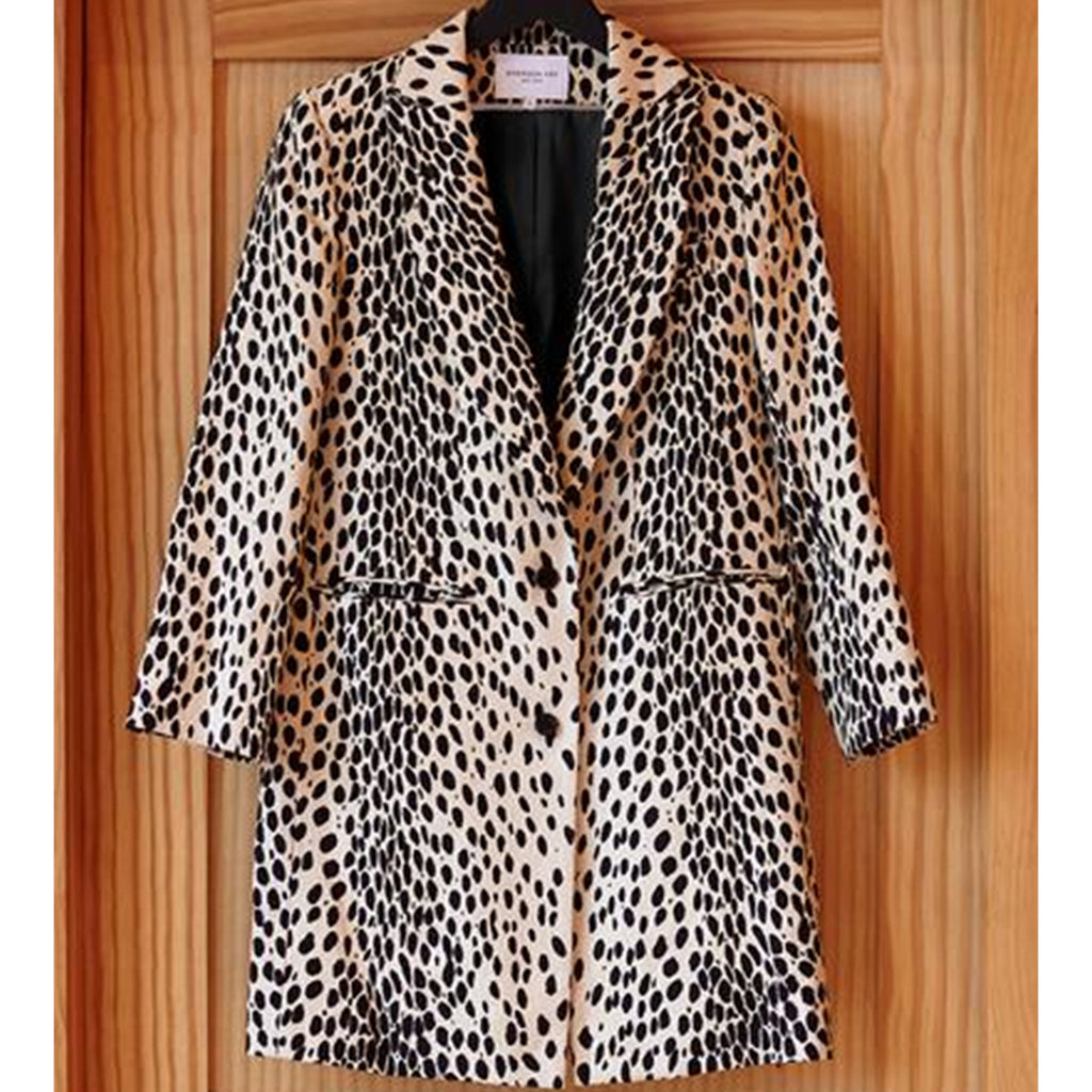 Wingtip Coat, Leopard