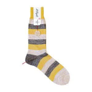 Linen Multi-striped Socks