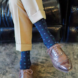 Fine Pattern Over-the-calf Socks