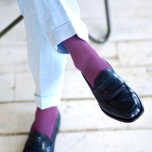 Striped Cotton Over-the-calf Socks