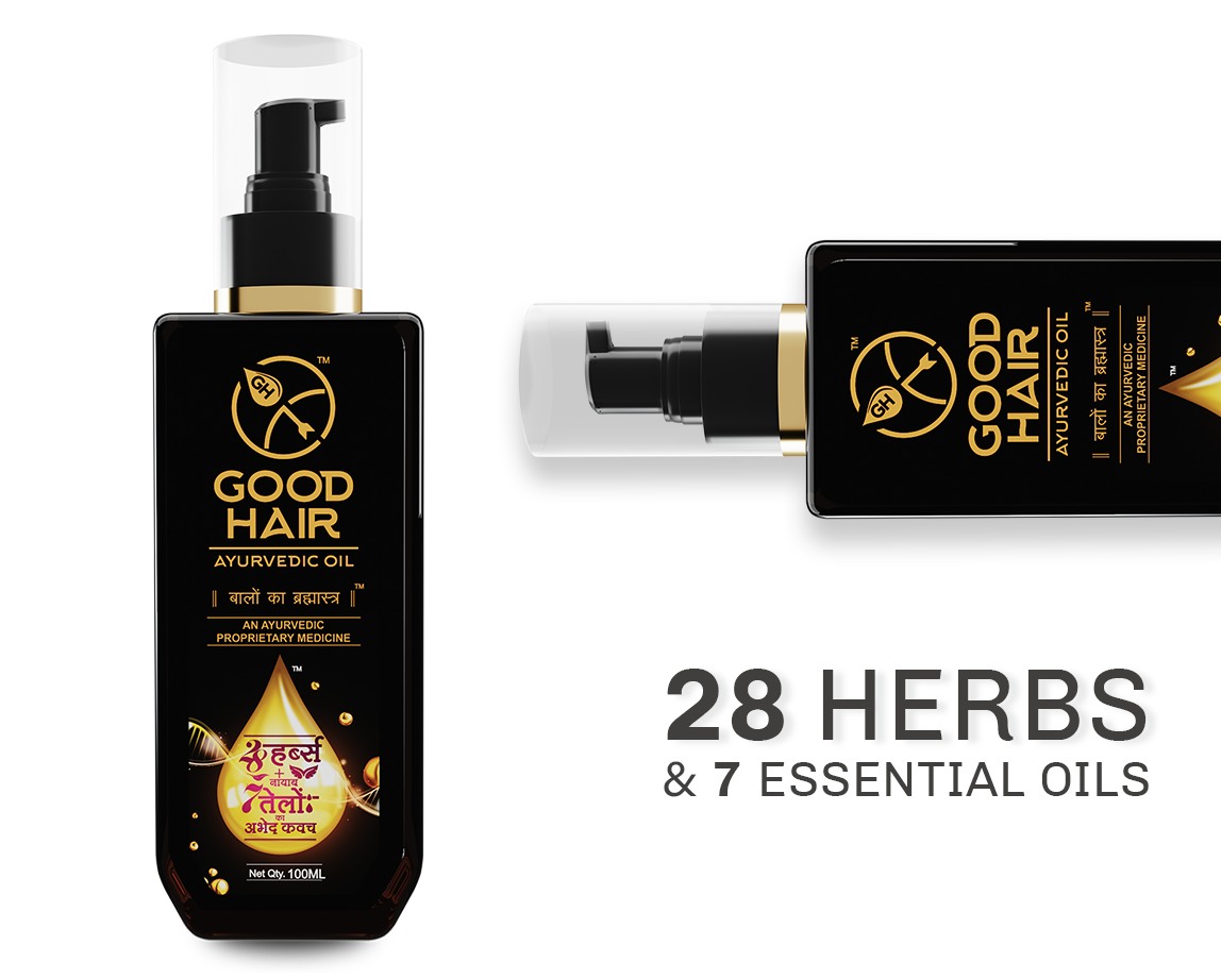 Good Hair | Ayurvedic Hair oil | 27 Hers & Essentials Oils