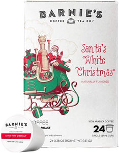 Barnies Santas White Christmas 24ct