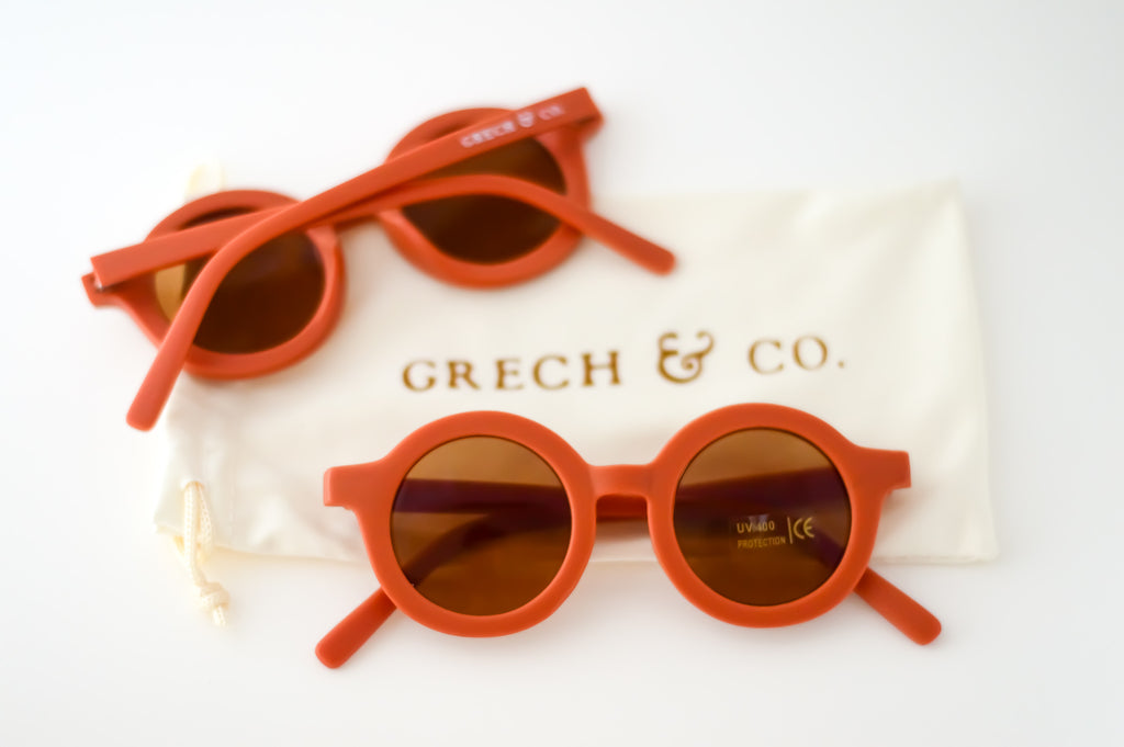 Lunettes de soleil enfant orange Grech & Co Rust - Sustainable Sunglasses