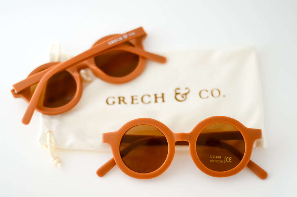 Lunettes de soleil enfant camel orange Grech & Co Spice - Sustainable Sunglasses