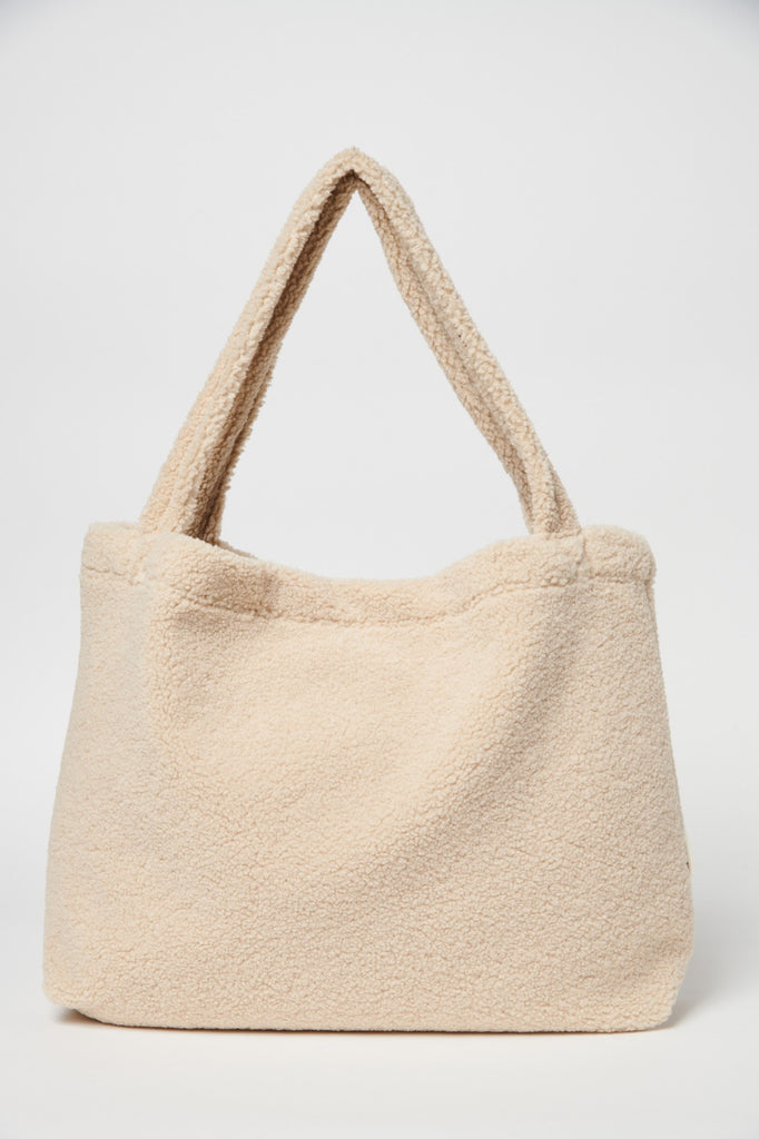 Sac Cabas Mom-Bag Chunky Teddy Ecru Studio Noos - Sac à langer