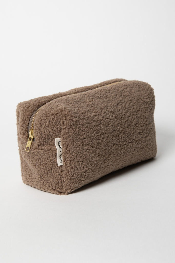 Trousse Chunky Brown Studio Noos - Trousse de toilette moumoute