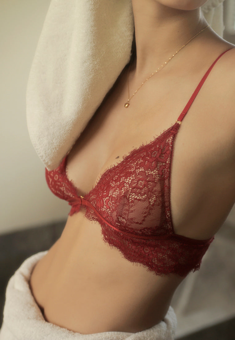 Ashley-Summer-Co-Naomi-Red-front-hook-padded-lace-bralette-singapore