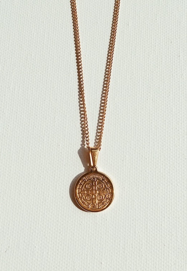 ashley-summer-co-gold-plated-saint-pendant-necklace-religious-cross-charms-singapore