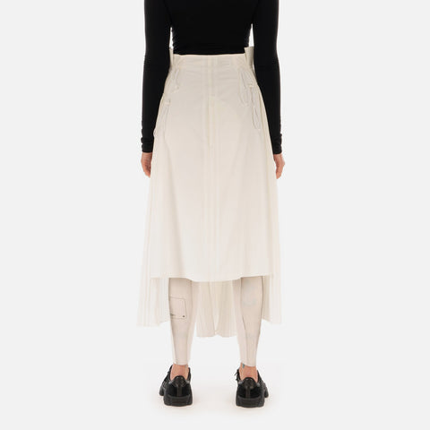 Adidas Y-3 W 'CH2 Pleated Skirt' – Core White