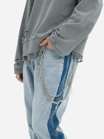 C2H4 'Multi Combined Pants Chain' – Metal Silver