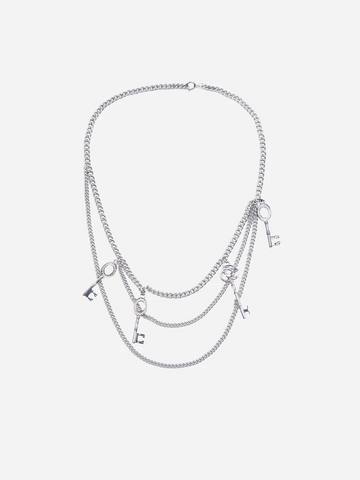 C2H4 'Multi Combined Necklace' – Metal Silver