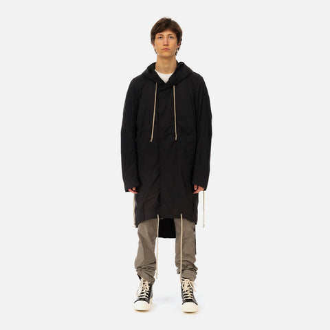 DRKSHDW by Rick Owens 'Jumbo Fishtail Parka' – Black