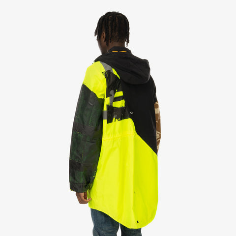 Duran Lantink x Concrete Store – 'Flash Long Jacket / NeonYellow-Black' – Remade from selected stock archive pieces: SJYP, UPWW