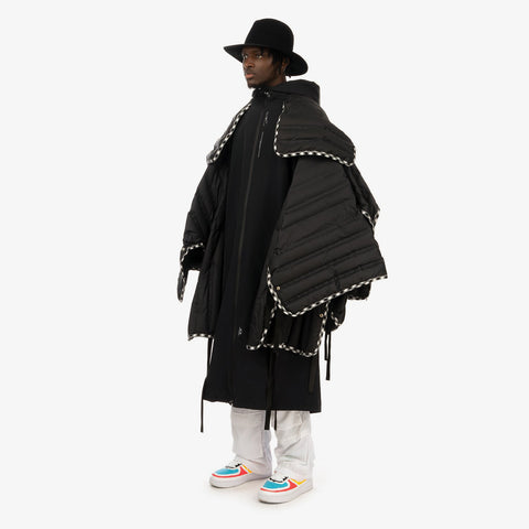 Duran Lantink x Concrete Store – 'Puff Layered Long Coat / Black' – Remade from selected stock archive pieces: Oakley by Samual Ross, Museum of Friendship