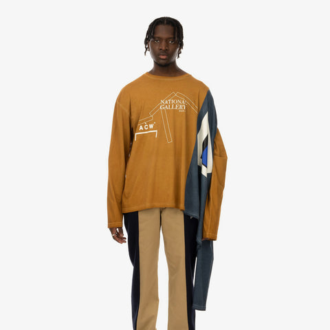 Duran Lantink x Concrete Store – 'Twinshirt / Browns-Navy' – Remade from selected stock archive pieces: A-Cold-Wall*