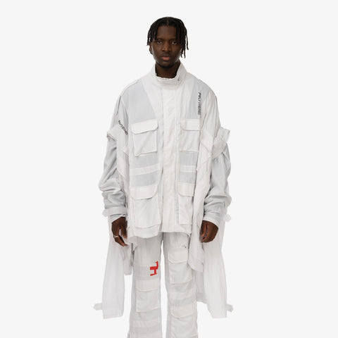 Duran Lantink x Concrete Store – 'Trio Jacket / White' – Remade from selected stock archive pieces: Polythene