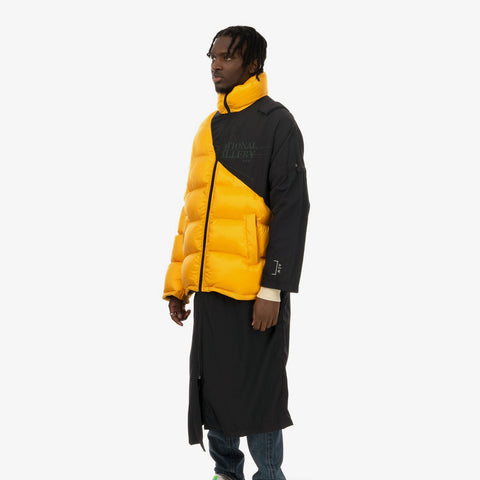 Duran Lantink x Concrete Store – 'Puffer Long Coat / Yellow-Black' – Remade from selected stock archive pieces: A-Cold-Wall*, North Face