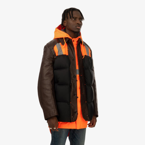 Duran Lantink x Concrete Store – 'Street Jacket / Brown-Orange' – Remade from selected stock archive pieces: Walter van Beirendonck, Adidas, UPWW