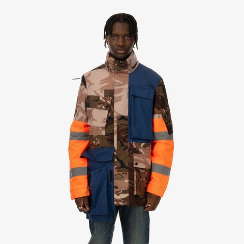 Duran Lantink x Concrete Store – 'Camo Jacket / Camo-Navy-Orange' – Remade from selected stock archive pieces: Christopher Raeburn, Oakley by Samual Ross, UPWW