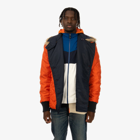 Duran Lantink x Concrete Store – 'Invest Jacket / Orange' – Remade from selected stock archive pieces: Hugo Boss, Maharishi