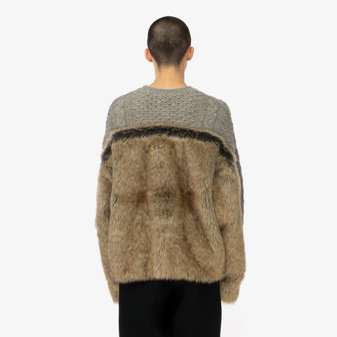 Facetasm 'Faux Fur Knit'